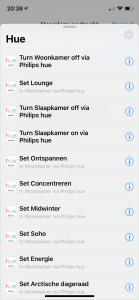 Siri Opdrachten: Hue acties