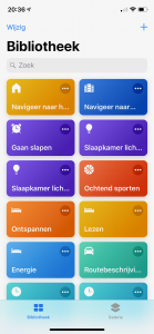 Siri Opdrachten: Bibiliotheek