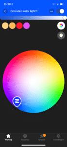 Philips Hue app: Instellen van kleur van lamp